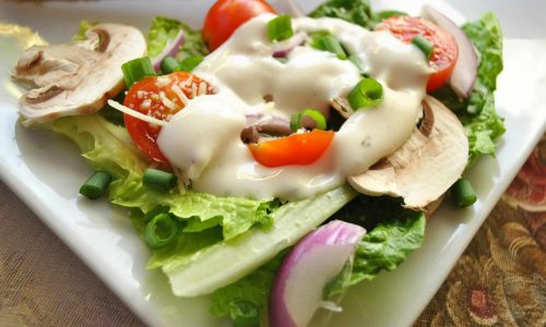 Salad with Creamy Ranch Dressing