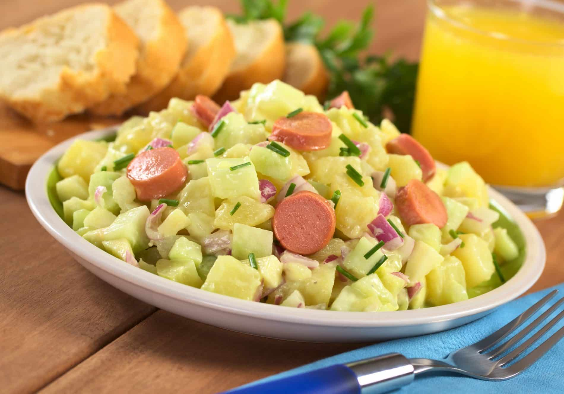ranch style new potato chicken frank salad